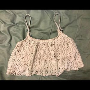 White Lace Swim top